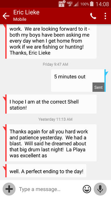 The saltwater cowboy fishing guide testimonials